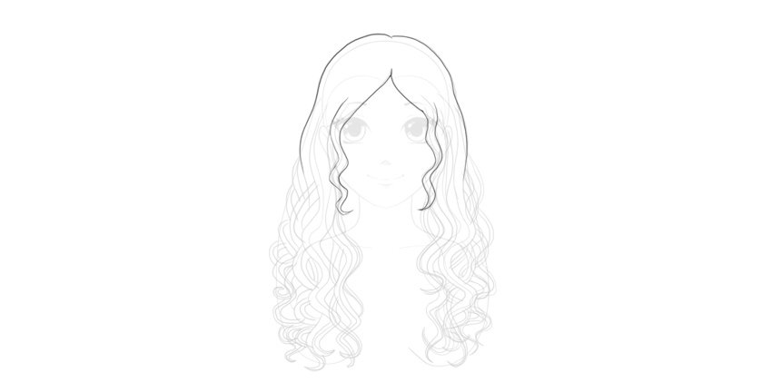 draw manga wavy hair