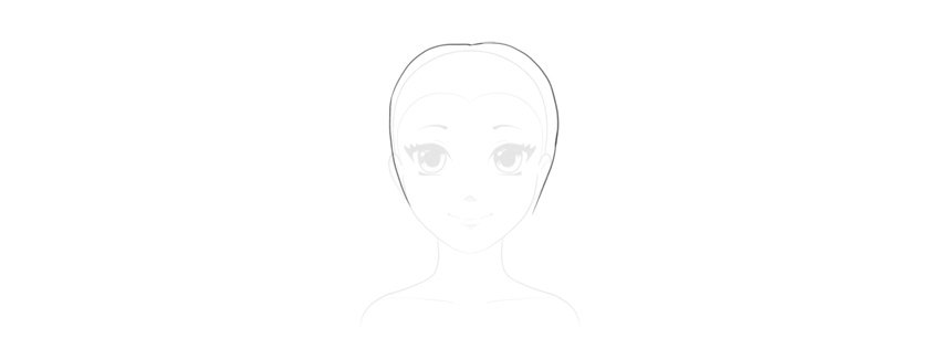 draw top of pigtails hairstyle