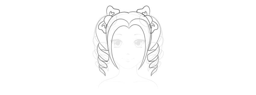 outline manga curls