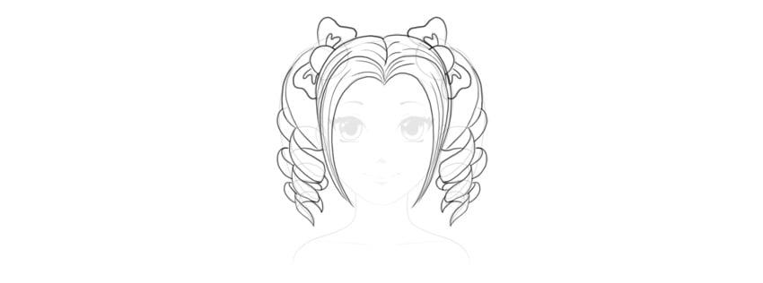 add detail to cute hair