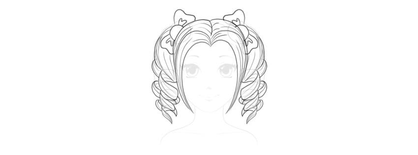 how to draw cute manga hairstyle