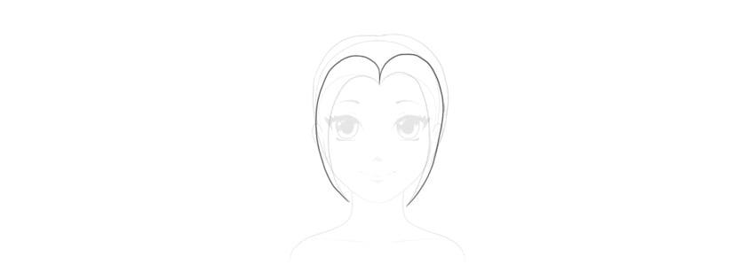 draw anime bangs