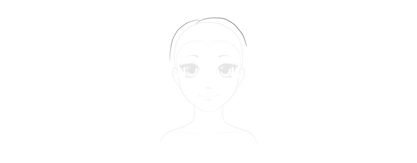 draw short hair on top