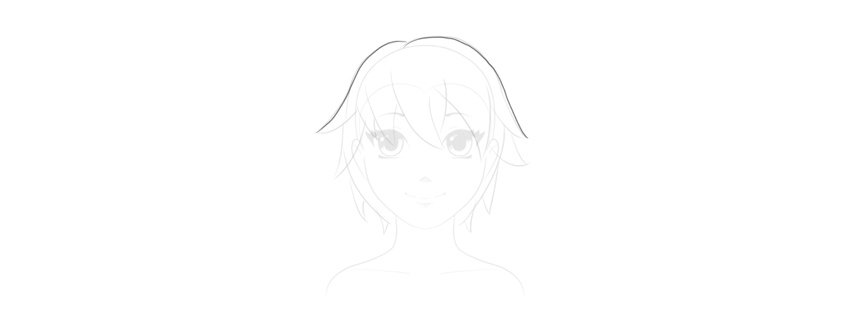 draw top of the hair