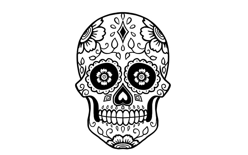 how to draw a sugar skull