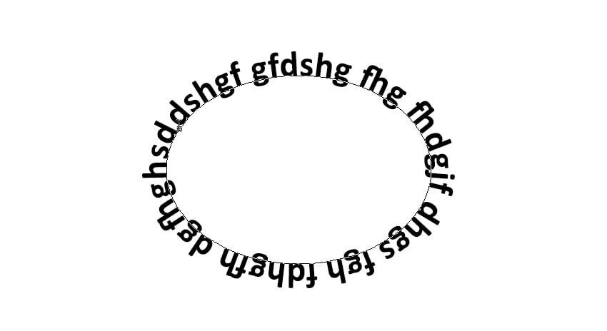 write text around ellipse circle