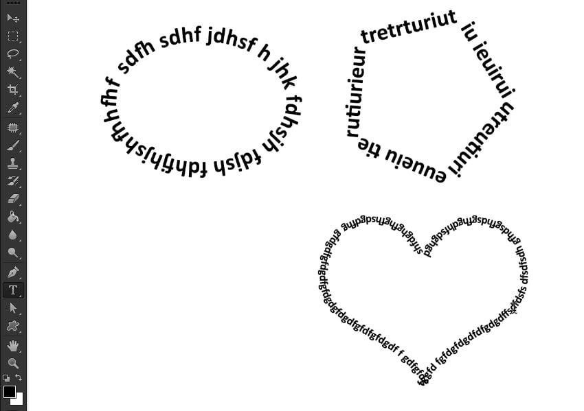 draw text around custom shapes