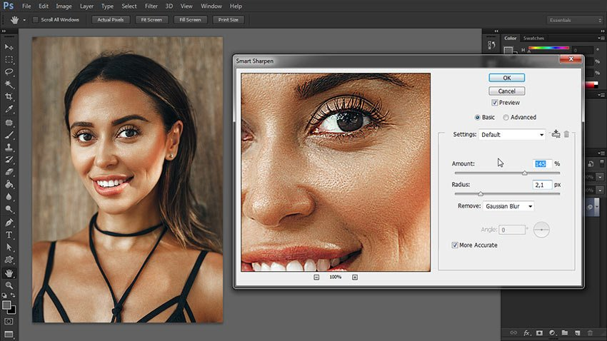 how to sharpen image in photoshop
