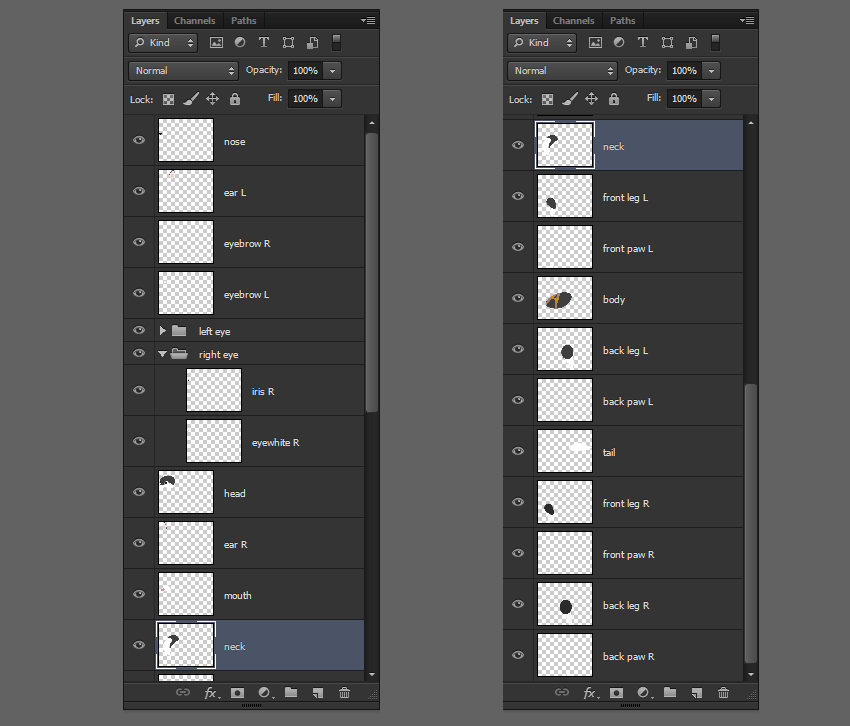 how to place body parts photoshop