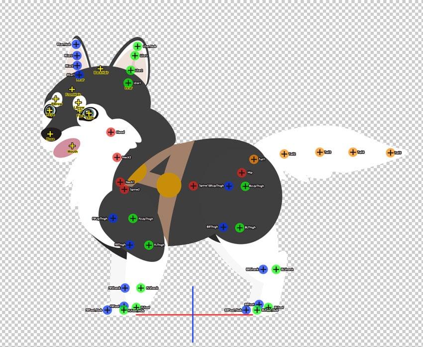 add animation bones in photoshop