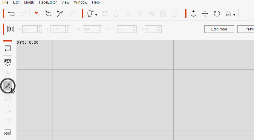 bone editor button