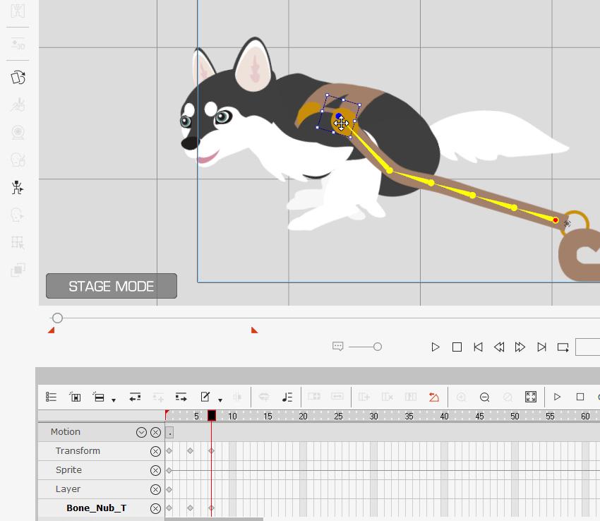 modify bones to animate