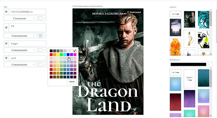 change font color on book cover