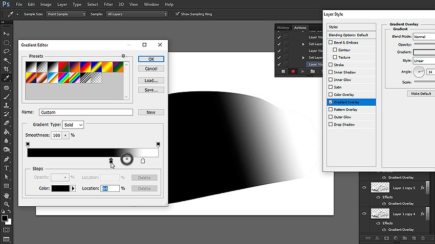 create mask with gradient