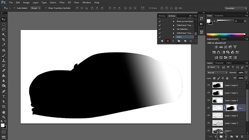 add layer mask from channel selection