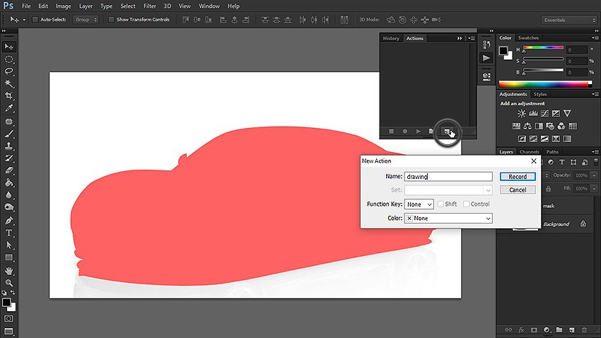 how to create photoshop action