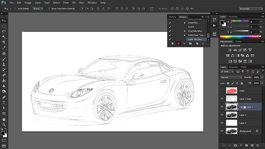 how to turn photo into sketch