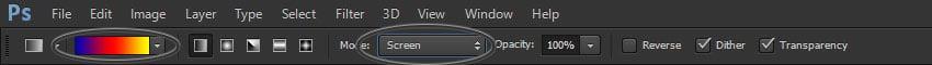 gradient tool settings