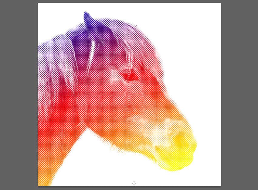 colorized halftone pattern
