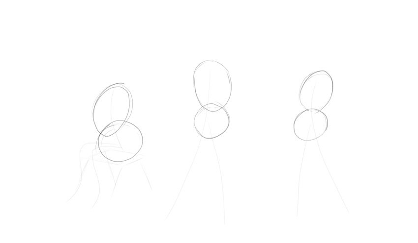 sketch body shape