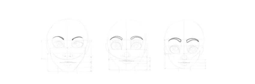 draw cartoon eyebrows