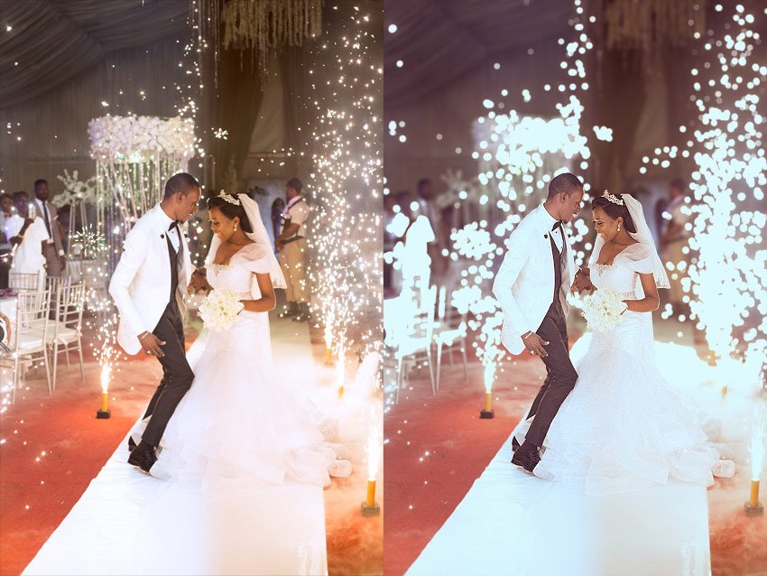 wedding photo effect