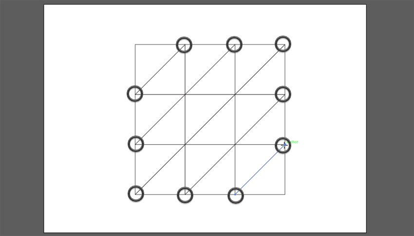 draw diagonal lines to the right