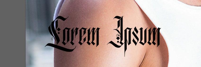 tattoo font text