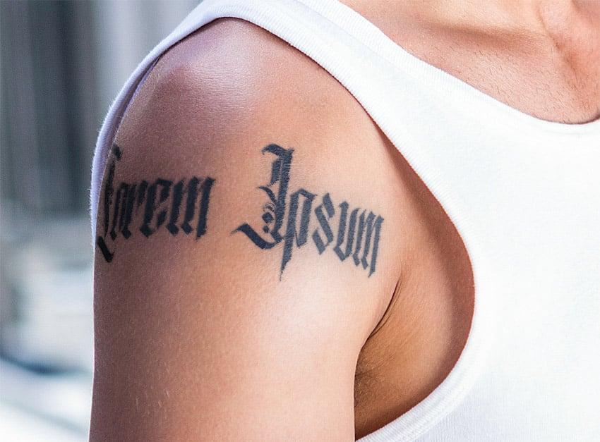 tattoo text design photoshop