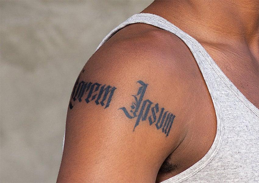 dark skin tattoo