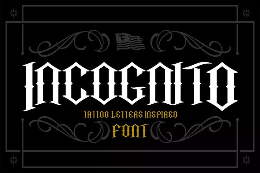 Incognito Tattoo Font