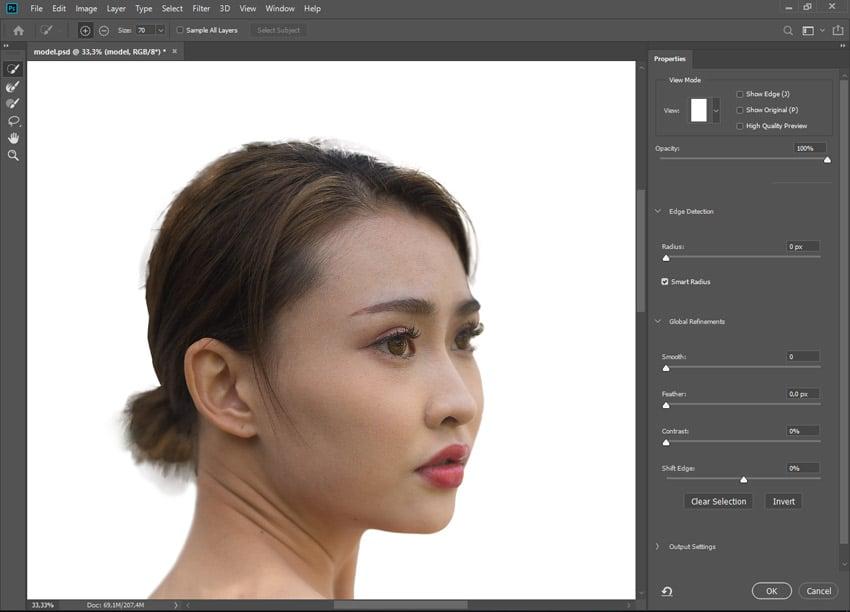 refine edge photoshop