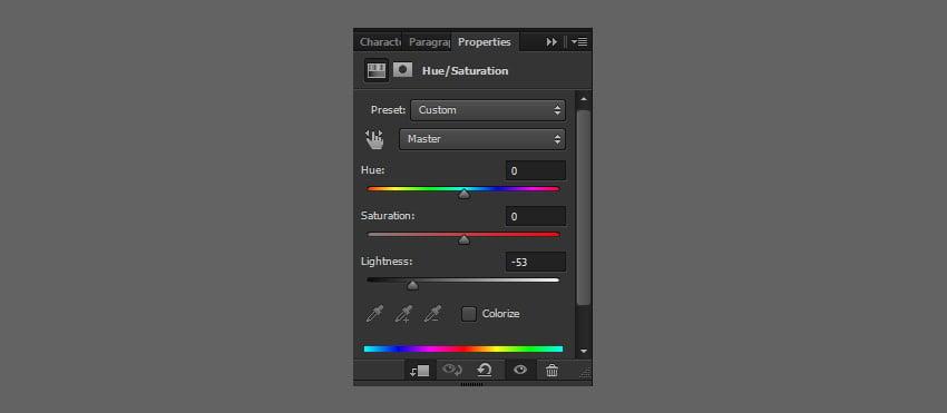 add hue saturation