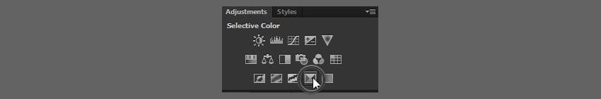 selective color adjusyment