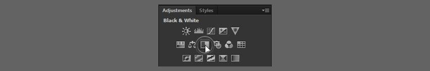 add black and white adjustment