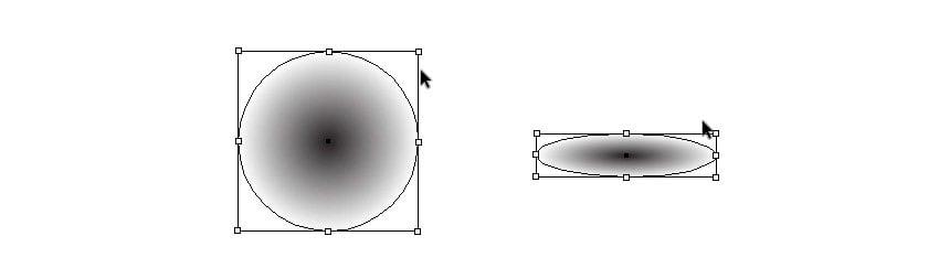 create radial shadow