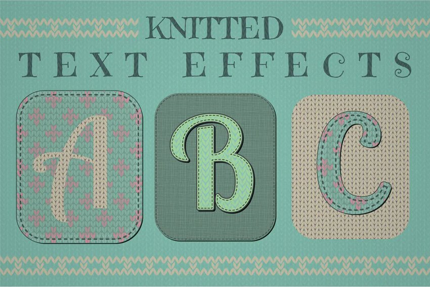 Knitted Text Effects Graphic Styles