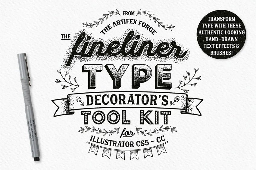 Fineliner Type Decorators Tool Kit