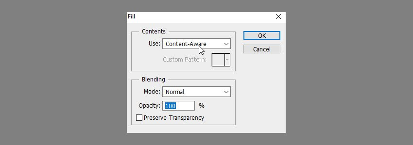 use content aware fill