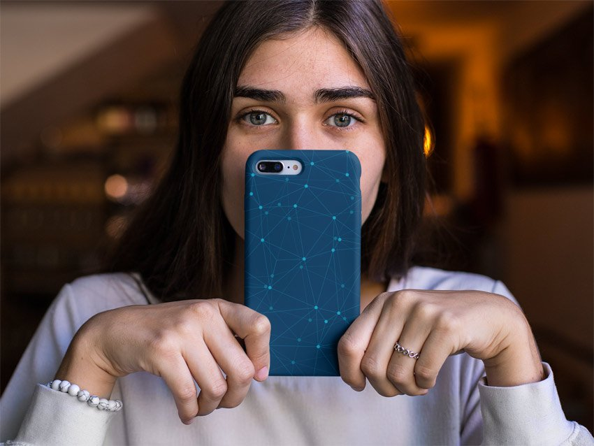 Woman Holding Phone Case