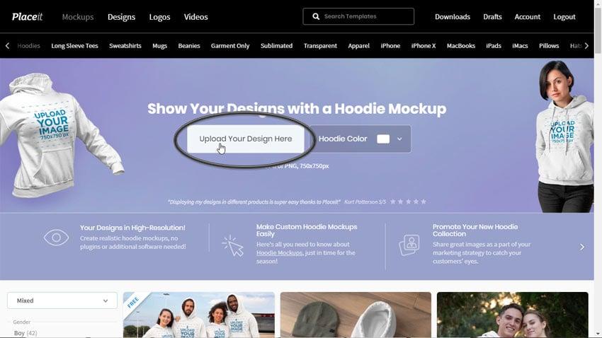 upload your design