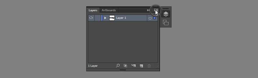 open layer menu