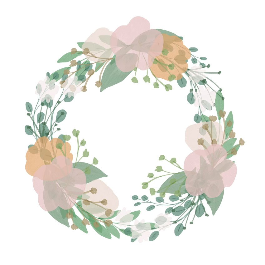 create a floral composition in clip studio paint