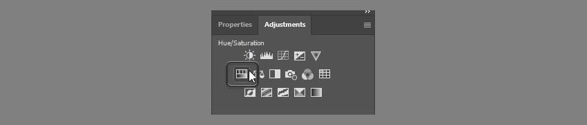 select hue saturation adjustment