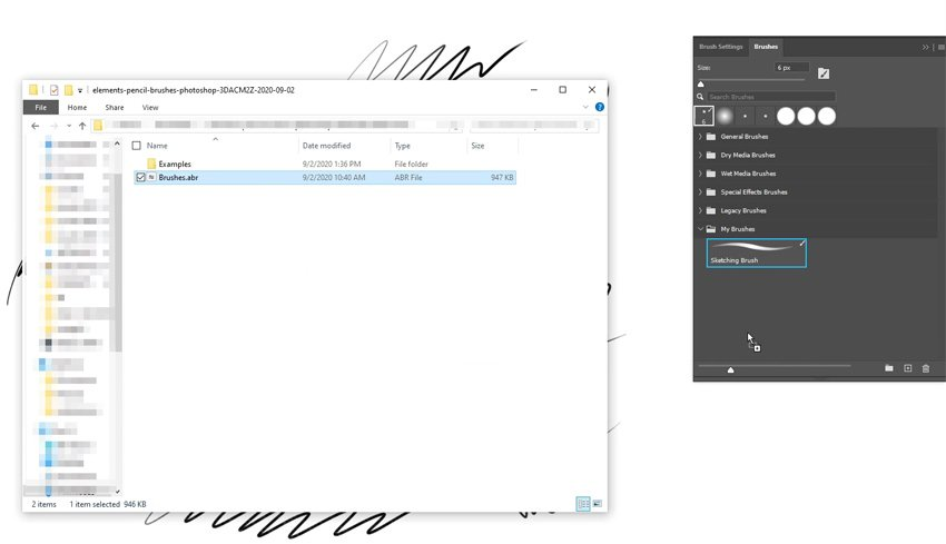 how to install custom photoshop brushes