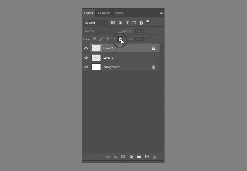 how to lock photoshop layers