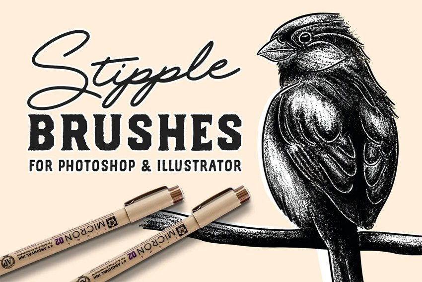 photoshop stipple brushes