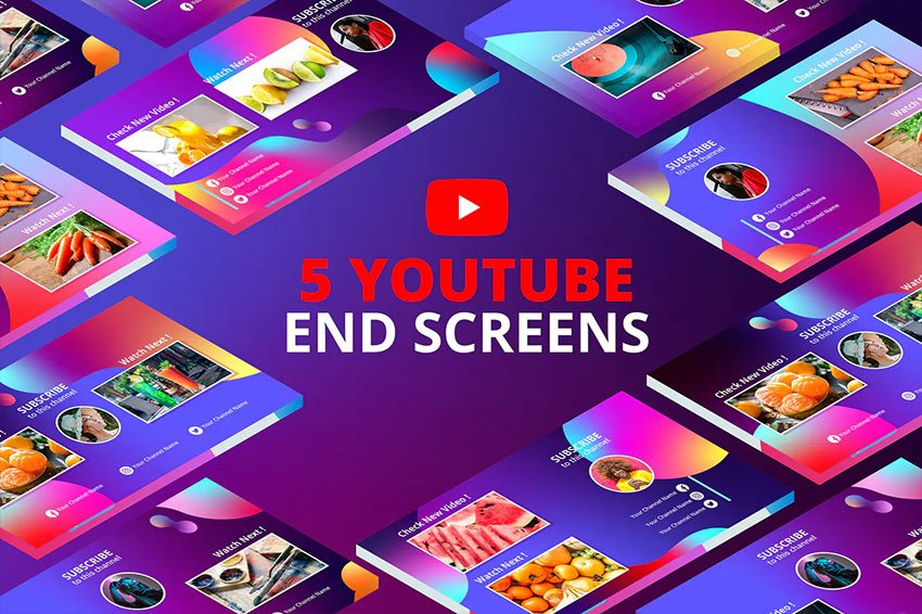 Multi Gradients - Youtube End Screens Vol.2
