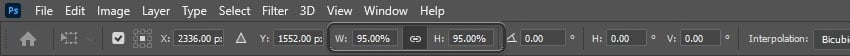 resize the layer