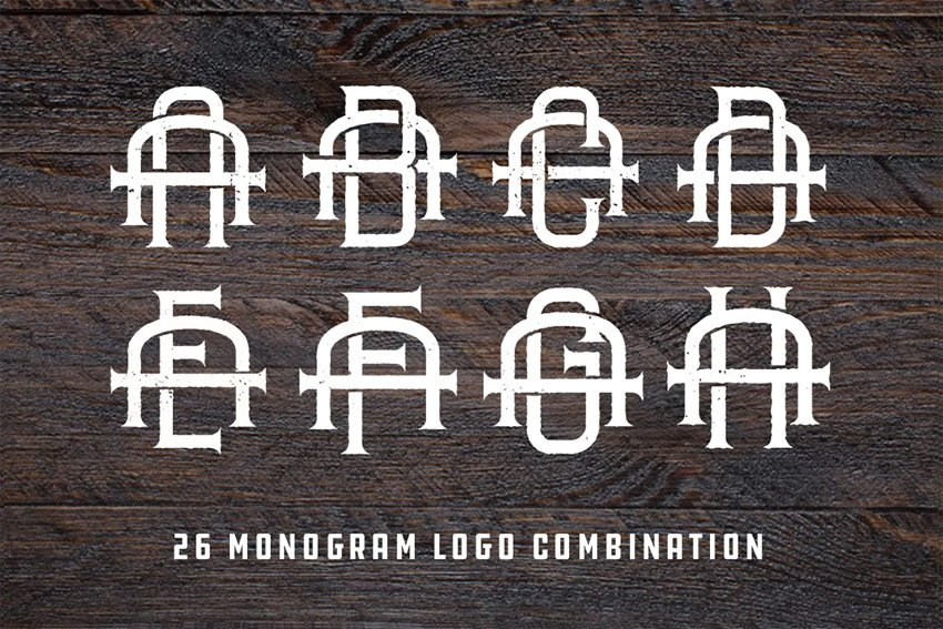 Vintage Monogram Logo Pack